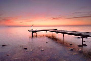 Echafaudage au lever du soleil sur John Leeninga