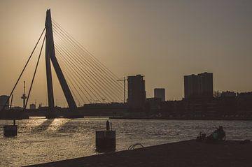 Silhouette van Erasmusbrug van Dylan Nieuwland
