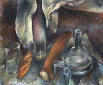 Stillleben mit Flaschen und Baguettes, HANNS BOLZ, Um 1909 von Atelier Liesjes