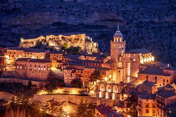 Albarracín bei Sonnenuntergang von Juriaan Wossink