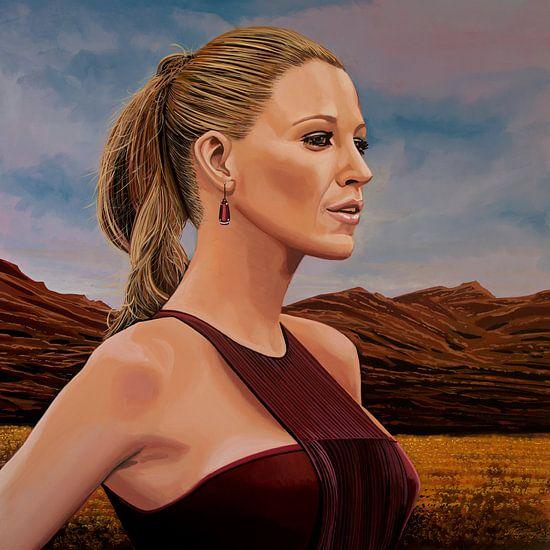 Blake Lively Schilderij van Paul Meijering