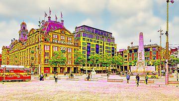 Monument op de dam Amsterdam van Digital Art Nederland