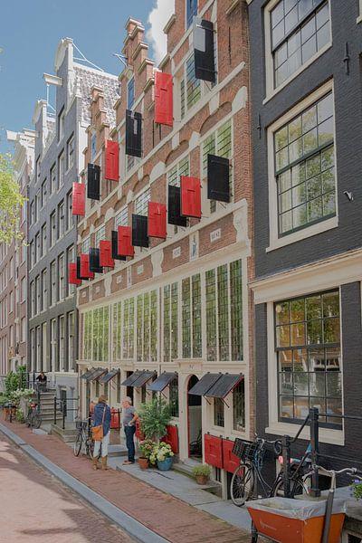 Historische huizen in Amsterdam van Elbertsen Fotografie