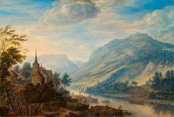 Blick auf den Rhein bei Reineck, Herman Saftleven