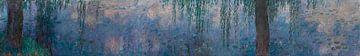 Die Seerosen - Morgen mit Weiden, Claude Monet