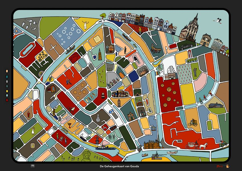 De Geheugenkaart van Gouda - versie mei 2018  van Michel Linthorst