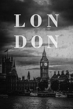 Steden in de regen: Londen van Christian Müringer