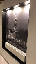Klantfoto: Weerdsluis, Oudegracht en Domtoren in Utrecht, ZWART-WIT van Donker Utrecht, als naadloos behang