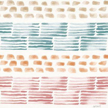 Zachte figuren patroon vi, Anne Tavoletti van Wild Apple