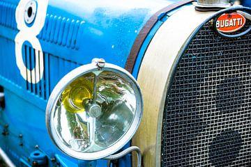 Bugatti Type 35 historische racewagen detail van