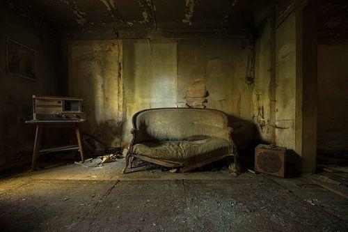 Verlaten woonkamer van