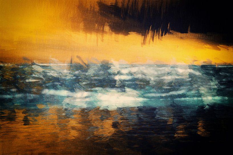 abends am Meer van Dagmar Marina