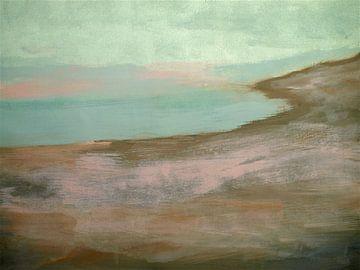 Rosa-graue Landschaft. von Ineke de Rijk