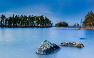 Wintertag an einem schwedischen See, Schweden von Adelheid Smitt