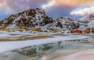 Winter op de Lofoten, Noorwegen van Adelheid Smitt