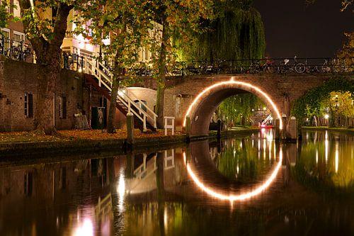 De Jacobibrug over de Oudegracht in Utrecht von Donker Utrecht
