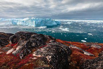 Eisfelsen vor der Küste der Diskobucht (Disko Bay) von Martijn Smeets