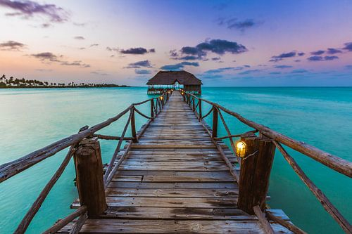 Zanzibar jetty bar van Andy Troy