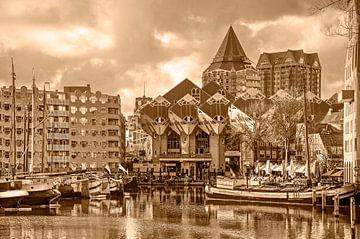 Maisons en cube de Rotterdam - monochrome