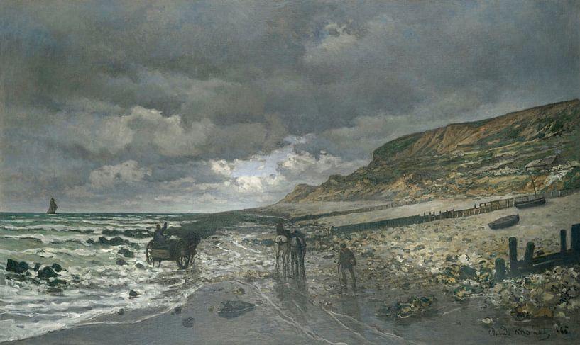 La Pointe de la Hève bei Ebbe, Claude Monet von Meesterlijcke Meesters