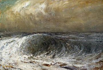 Stürmische See, Gustave Courbet, um 1869 von Atelier Liesjes