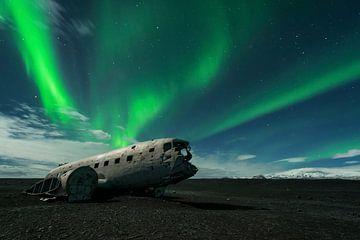 Island Nordlichter Flugzeug von Stefan Schäfer