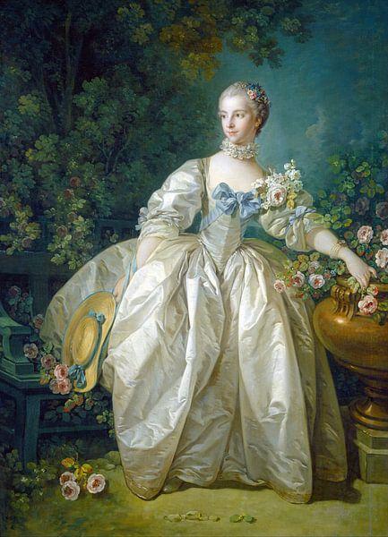 François Boucher - Madame Bergeret van 1000 Schilderijen