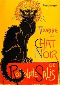 "Vintage affice Frans cabaret ""Le Chat Noir"" van Zeger Knops"