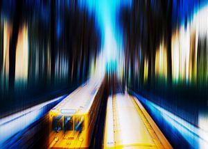 Berlijn Prenzlauer Berg - metrolijn 2 van Frank Andree