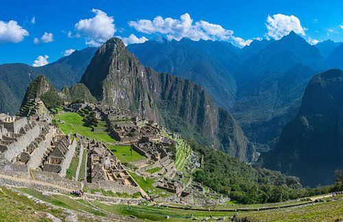 Urubamba rivier in het dal naast Machu Picchu, Peru van