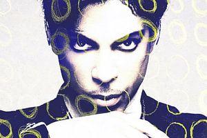 Prinz Abstraktes Porträt mit gelben Kreisen