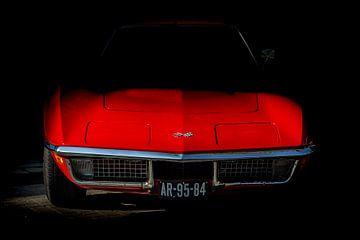 Red Corvette van marco de Jonge