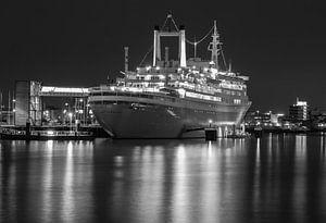 SS Rotterdam in zwartwit