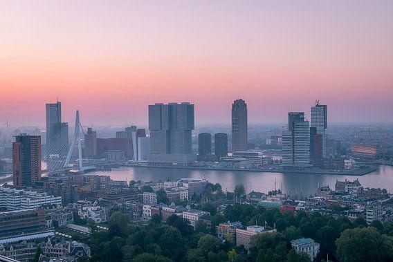 Zonsopgang Kop van Zuid Rotterdam