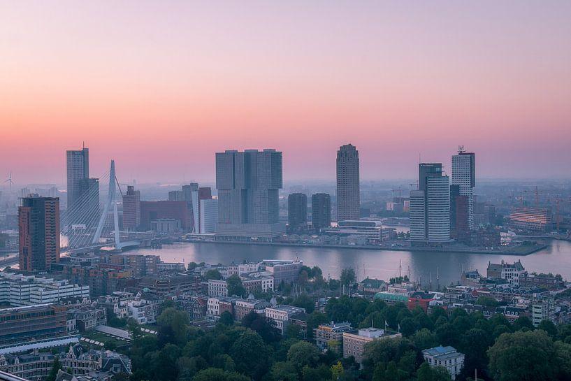 Zonsopgang Kop van Zuid Rotterdam van AdV Photography