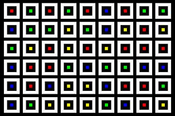 Nested | Center | 09x06 | N=02 | Random #05 | RGBY van Gerhard Haberern