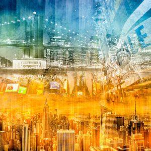 Modern NYC Composing blue/orange