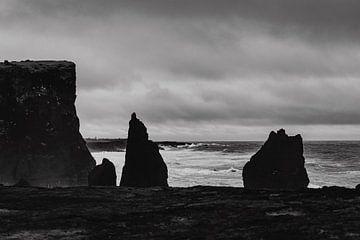 Zwart-wit foto in IJsland - Reykjanesviti von RUUDC Fotografie