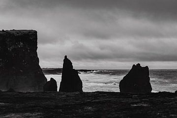 Zwart-wit foto in IJsland - Reykjanesviti van RUUDC Fotografie