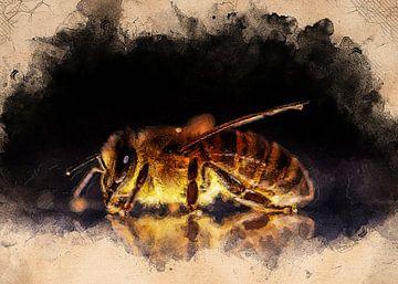 Biene Tier Kunst #Biene #Biene von JBJart Justyna Jaszke