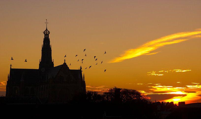 Sunrise in Haarlem von Jasper van der Meij