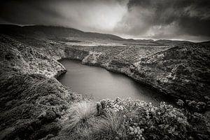 Landschap op Flores, Azoren