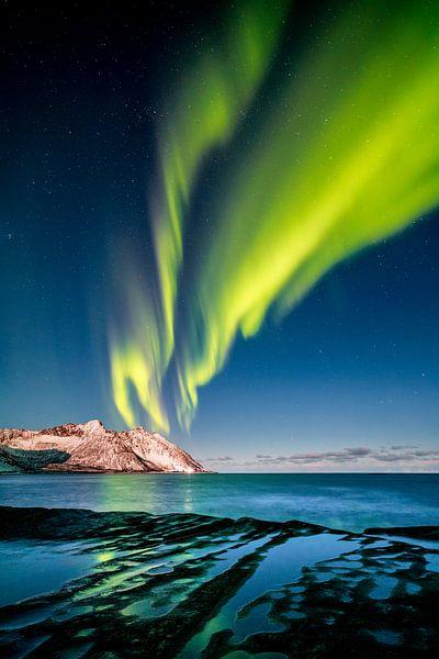Aurora Borealis in Northern Norway van Sascha Kilmer