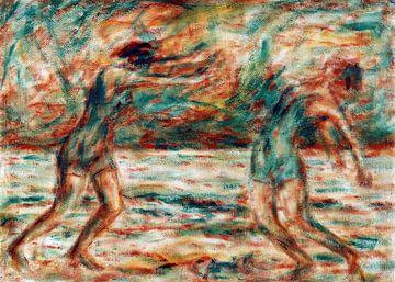 Zwei tanzende Frauen am Strand, Christian Rohlfs - 1926 von Atelier Liesjes