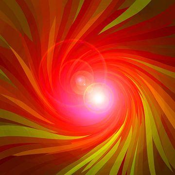 Rote Energie-Spirale van Ramon Labusch