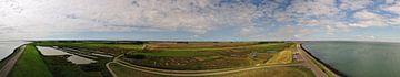 Panorama van Burgh-Haamstede vanaf de Plompe toren van Thomas Poots