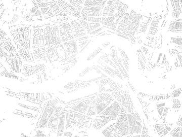Schattenkarte von Rotterdam von Frans Blok
