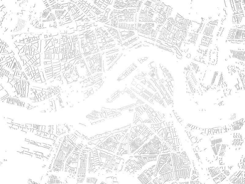 Schaduwkaart Rotterdam van Frans Blok