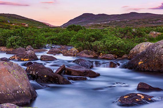 Kalme Rivier in Jotunheimen Nationaal Park in Noorwegen