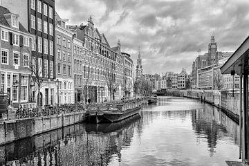 Het Singel(Bloemenmarkt) in Amsterdam. sur Don Fonzarelli